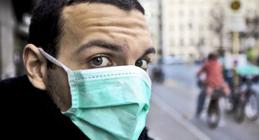 man wearing a medical mask