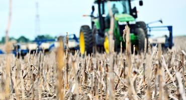 no-fill farm tractor in field