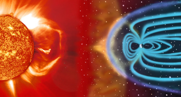 A coronal mass ejection reaches Earth