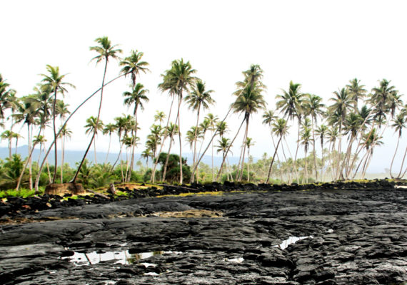 lava field in Samoa