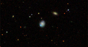 dwarf galaxy Markarian 177 (center) and SDSS1133