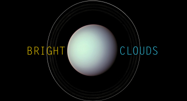 "Uranus with words ""bright clouds"""