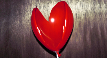 broken heart-shaped balloon