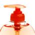 liquid handsoap in orange bottle