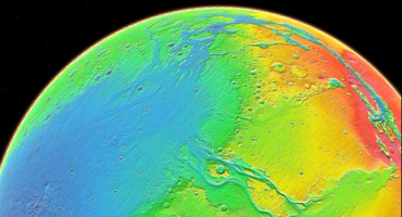 topography map of Mars