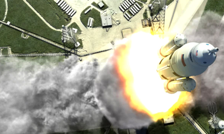 illustration of NASA's space launch system