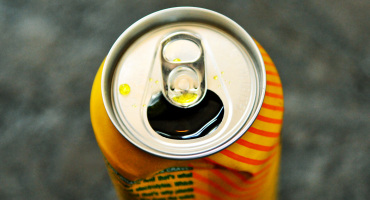 open can of soda