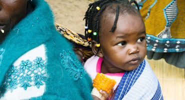 toddler girl in Zambia