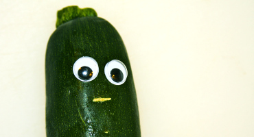 zucchini with face