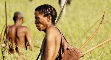 a Khoisan man in profile