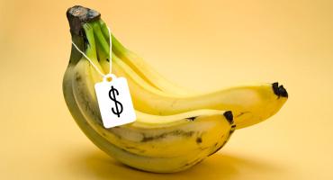 price tag on bananas