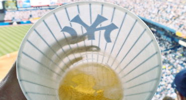 beer cup at a baseball game
