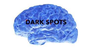 blue brain isolated on white background