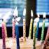 birthday cake in blue room