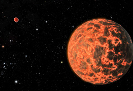 hot exoplanet illustration