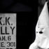 KKK sign and hood in museum