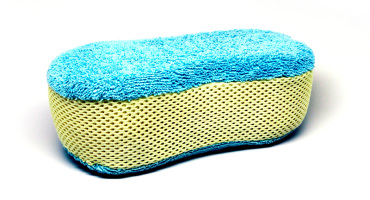 blue and yellow sponge