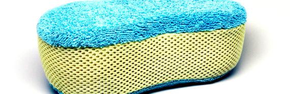 blue and yellow sponge