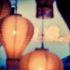 clouds behind lanterns in Thailand