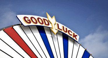 good luck sign at carnival