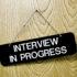 job interview sign
