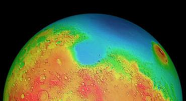 two hemispheres of Mars