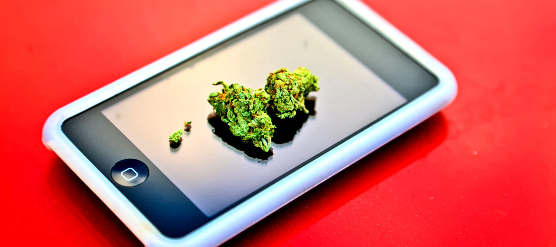 marijuana on an iphone