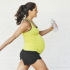 pregnant woman walks for exercise