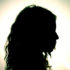 woman's head in silhouette