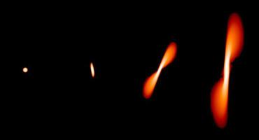 black hole tears apart a star