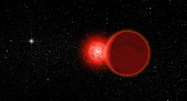 Artist's conception of Scholz's star and its brown dwarf companion