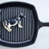 cow in cast-iron skillet