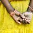 little girl in india wear yellow dress