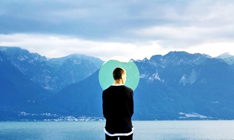 mindfulness training man by lake