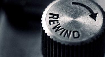rewind dial on a camera