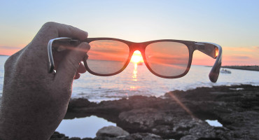 sunset through sunglasses