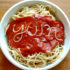 yum spelled with spaghetti