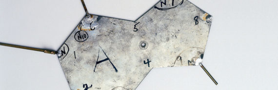 metal template from Crick and Watson's DNA model.