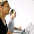 couple running on treadmills