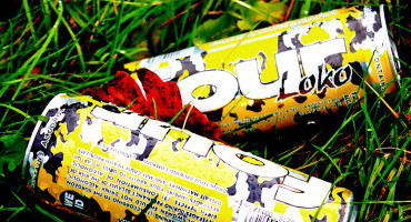 four loko cans in grass