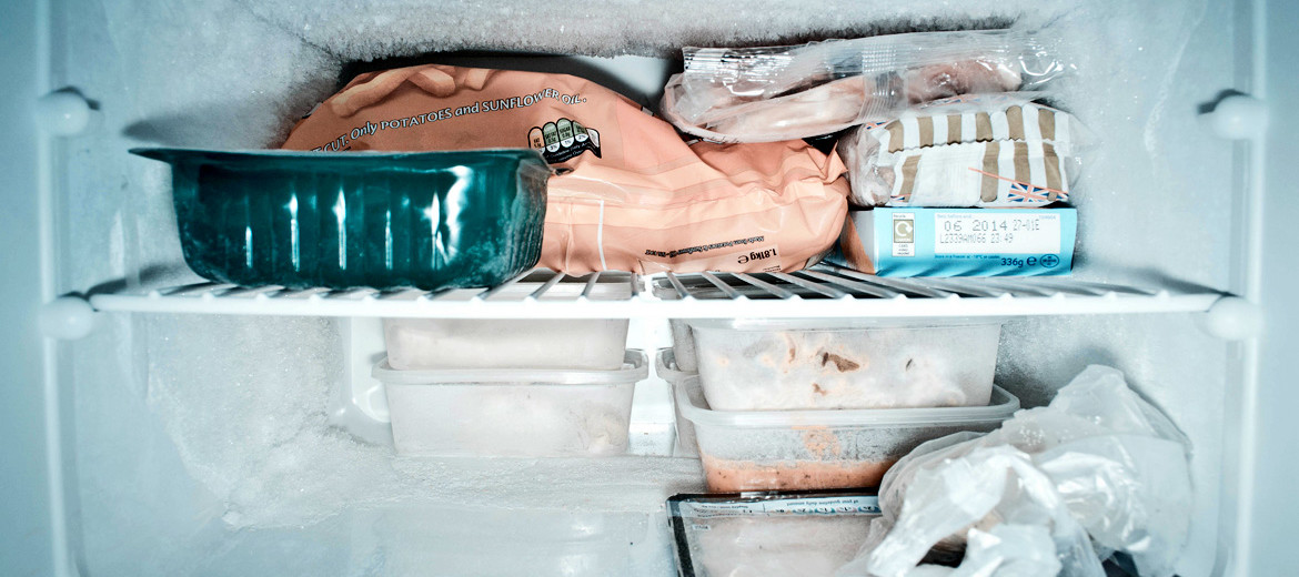 inside of freezer