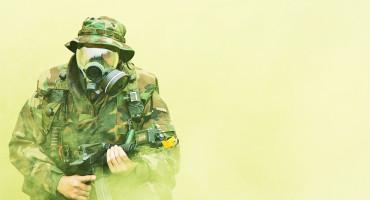 military exercise photo looks like nerve agent