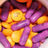 orange and purple pills