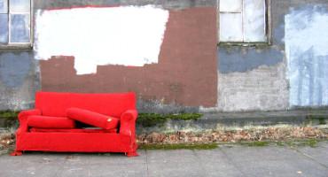 sofa on the street