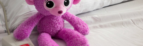 toy on a hospital bed