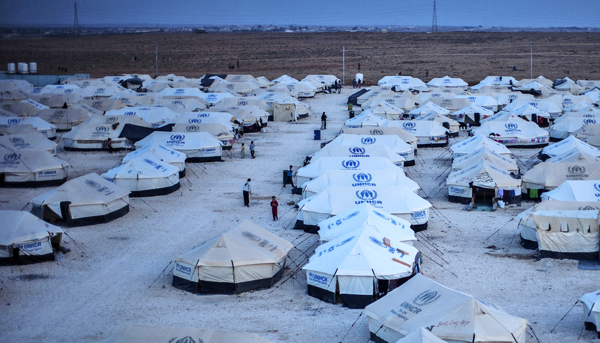 tents in Za'atri camp