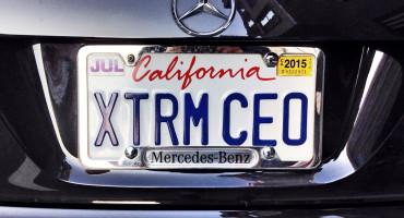 XTRM CEO License plate