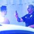 police officer tests man for drunk driving