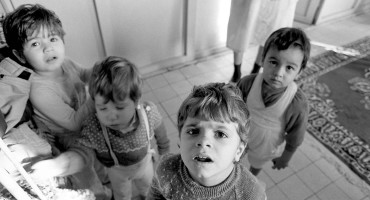 children in Romanian orphanage