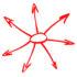 arrows and circle